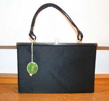 Goldpfeil Tasche, sehr feine Vintage Abendtasche, Seide und Leder, ungetragen!
