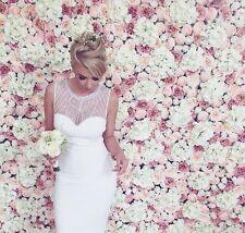 'Gina' Flower Wall Wedding Backdrop Peony Roses White Blush Pink - UK Supplier