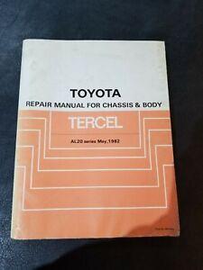1982 tercel al20 toyota workshop manual guide 85k