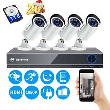 8CH Security Camera System 1080P Motion DVR Surveillance Kit IR Outdoor 1TB HDD