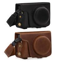 MegaGear Panasonic Lumix ZS200, TZ200, ZS100, TZ100 Genuine Leather Camera Case