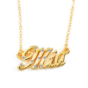 """Necklace With Name """"Mia"""" - 18K Gold Plated 