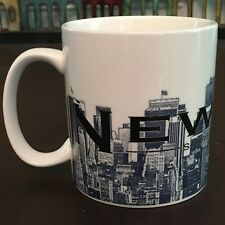 New Starbucks 2005 New York Barista Skyline Series One Coffee Mug Big Apple 18oz