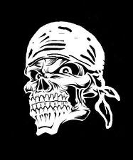 high detail airbrush stencil bandana skull FREE UK POSTAGE