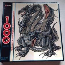THE BLACK HYDRA DRAGON FANTASY JIGSAW PUZZLE, AMERICAN PUBLISHING, 1000 PIECES