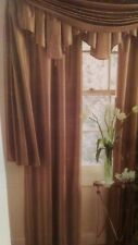 "JCPenney Home 100% Silk Copper Brown Drape Curtain Panel Lined 41"" x 95"" - NEW"