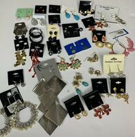Lot of 32 Pairs of Earrings Costume Fashion Jewelry Dangle Studs Mixed FL41