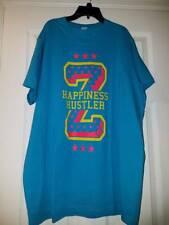 "NEW ZUMBA UNISEX ""HAPPINESS HUSTLER""  T-SHIRT BANGIN BLUE (AQUA) SIZE XL / XXL"
