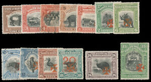 NORTH BORNEO 1916 1c-25c CROSS OVERRPRINT SEMI-POSTAL SET MINT #B1-B13 4c and 10