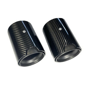 GMD Performance Carbon Fibre Exhaust Tips Matte Black - Fits 135i 140i 235i 240i