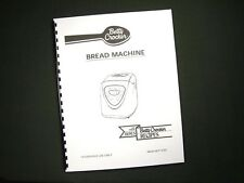 Betty Crocker BCF1690 BCF-1690 Bread Maker Machine Instruction Manual & Recipes
