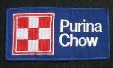 """PURINA CHOW EMBROIDERED SEW ON PATCH FLAG FEED ANIMAL FOOD BLUE 5 3/4"""" x 3"""""""