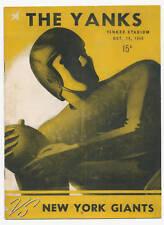 """THE YANKS"" VS New York Giants -  Oct. 14, 1945 Program  (VERY RARE)"