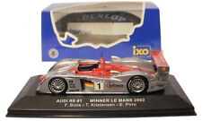 IXO LM2002 Audi R8 #1 Le Mans Winner 2002 - Biela/Kristensen/Pirro 1/43 Scale