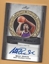 2012 Leaf basketball card autographed Magic Johnson Los Angeles Lakers #'d 07/10