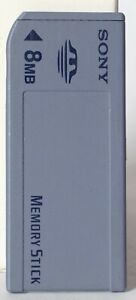 Sony original full size 8mb memory stick MSA-8A.
