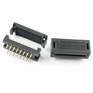 10Pcs 2.54mm 2x8 Pin 16 Pin Male IDC Ribbon Cable Transition Connector 3100-16P