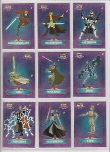 Star Wars Topps Clone Wars 2004 Sticker Set of 10 Arc Trooper,Yoda,Durge,Mace