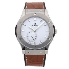 Hublot Classic Fusion Classico Thin Manual Titanium Mens Watch 515.NX.2210.LR