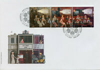Switzerland Cinema Stamps 2020 FDC 125 Years Movies Film Cultures 3v Strip