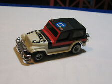 1978 Ideal TCR slot car off road CJ-7 Racing Car white red / black #21