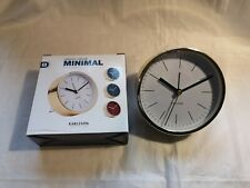 Karlsson Gold Alarm Clock Minimal - White