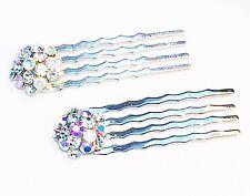 USA MINI Hair Comb Clip Hairpin using Swarovski AB Crystal Wedding Bridal