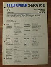 HiFi-amplificatore ha800 ha1800 TELEFUNKEN istruzioni di servizio service manual