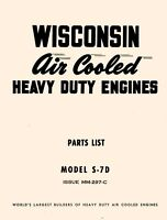 WISCONSIN S7D Air Cooled Heavy Duty Engine Parts Manual