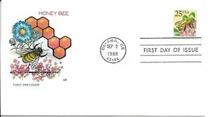 FDC USA OMAHA 1988, HONEY BEE