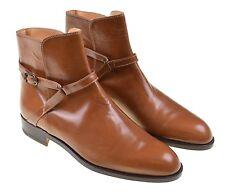 NEW Gucci Caramel Brown Mens Jodhpur Buckle Riding Dress Boots Shoes 41