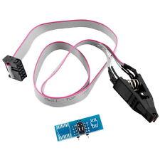 SOIC8 SOP8 Flash Chip IC Test Clips Socket Adpter BIOS/24/25/93 Programmer E3