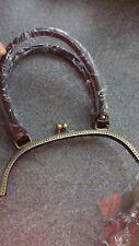 Metal Purse Frame Kiss Clasp Handbag Handle BrassSilver Vintage Bag Making Craft