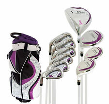 """Believe Ladies Complete Golf Set by Founders Club Purple LH - Petite (-1"""")"""