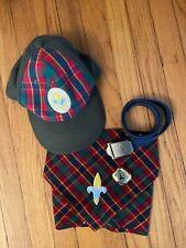 WEBELOS  Hat, Neckerchief, Scarf Slide, Belt With Buckle - S/M  Exc Condition
