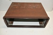 Vintage metal Cabinet For The Fisher Stereo Tube Equipment - empty