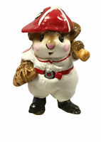 Wee Forest Folk Batter Up Special Edition MS-15 Red & White Mouse Baseball W/Box