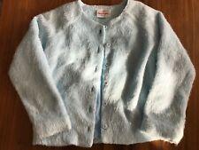 Hanna Andersson 110 Soft Fluffy Blue Girls Cardigan