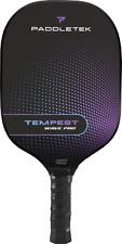 New Paddletek Tempest Wave Pro Graphite Pickleball Paddle Purple Aurora 4 3/8