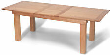 French Rustic Oak Solid Chunky Wood Large Butterfly Extending Dining Table