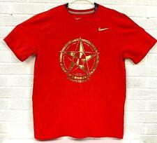 Nike USA BASKETBALL Women's Team Short Sleeve T-Shirt Men's Size Large Red Gold