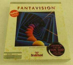 "Fantavision IBM Tandy PC Game 3.5"" Disk & 5.25"" Disks included RARE"
