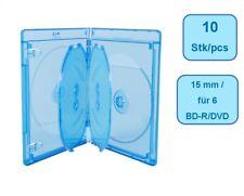 Blu-Ray ELITE Hüllen 15 mm für 6 Disc - 10 Stück - blau