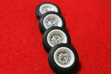 model parts (4 ) BEAUTIFUL TIRES WITH WIDE/WHITE WALL  INSERTS & 4 SPOKE WHEELS