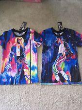 2 el señor 1991 Inc & Miss Tee S Michael Jackson Multicolor UNISEX NUEVO CON ETIQUETAS CAMISETAS