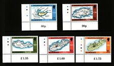 1989 Alderney, Maps, NH Mint Set of Stamps, SG A37-41