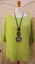 Linen Blend Scoop Neck Tops & Shirts for Women