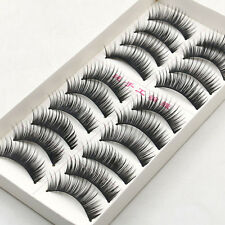 10 Pairs Beauty Wispies Natural Long Thick Soft Fake False Eyelashes Handmade