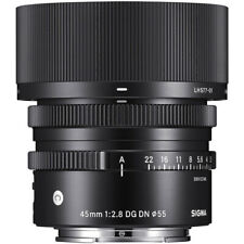 SIGMA 45mm F2.8 DC DN CONTEMPORY PRIME LENS f LEICA L NEW in FACTORY BOX & HOOD