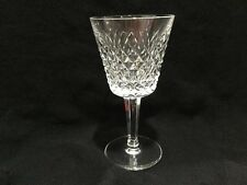 """Vintage 70's Waterford Crystal Alana Large 6"""" Wine Water Glass (s) Ireland MINT"""